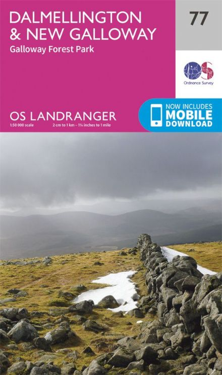 OS Landranger 77 Dalmellington and New Galloway